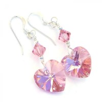 """""""Perfectly Pink - Pink Hearts Valentines Earrings ..."""