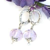 Lavender Blue Lampwork Earrings, Handmade Jewelry for ...