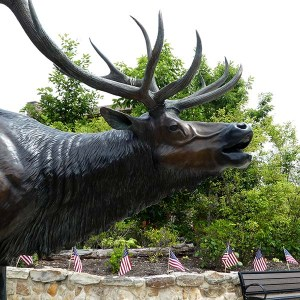 Elk Country Statue