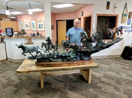 Amazing sculptures in art gallery