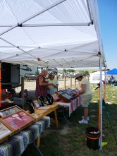 Joanna shopping at the Powder River Trapper tent