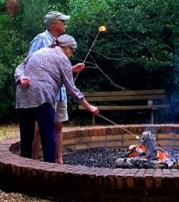 Young and old love to catch their marshmallows on fire!