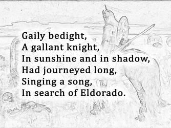How does edgar allan poe create suspense in this stanza