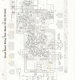 radio schematic diagram panasonic rf 563 am fm radioparts layout  [ 5100 x 7016 Pixel ]