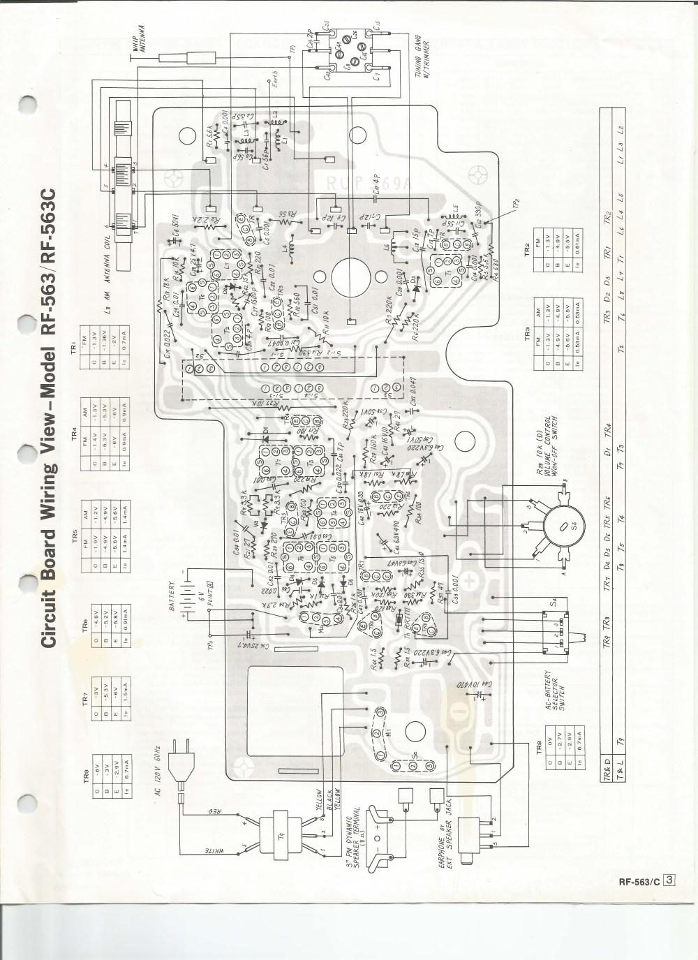 medium resolution of  radio schematic diagram panasonic rf 563 am fm radioparts layout