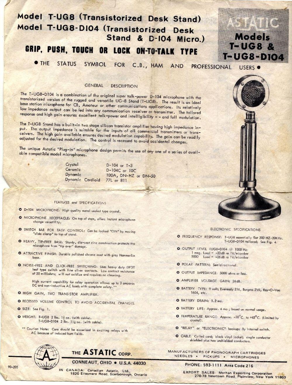 medium resolution of the cb radio talk forum astatic d104 base microphone info d 104 6 wire d 104 wiring to ham radio
