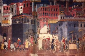 Ambrogio_Lorenzetti_Good_Government_town_1338-9