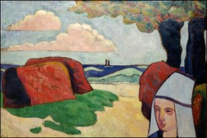 Bernard_Breton_Woman_and_Haystacks_1890