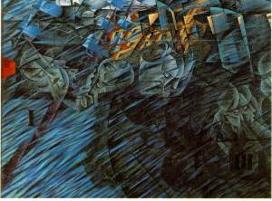 Boccioni_States_of_Mind_Those_who_go_1911