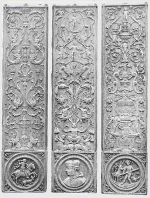 Carved wooden panels chapel Chateau de Gaillon early_16thC