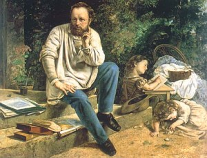 Courbet_Portrait_of_Proudhon_1853