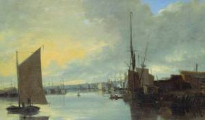 crome_yarmouth_harbour-evening_c1817