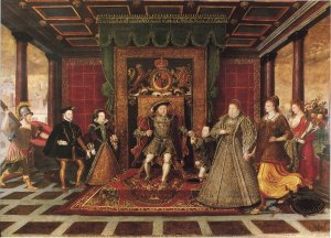 De Here The Family of Henry VIII An_Allegory_of_Tudor_Succession_c1572