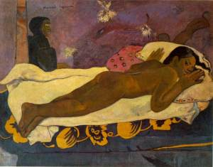 Gauguin_Spirit_of_the_Dead_Watching_1892