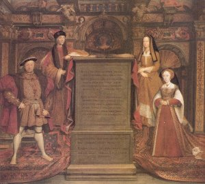 Holbein after Whitehall mural 1537