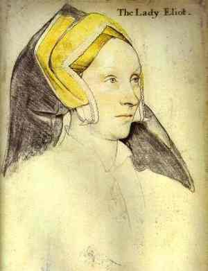 Holbein Portrait of Lady Elyot 1532-3