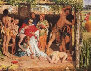 Hunt A Converted British Family sheltering a Christian_Priest_from_the_Persecution_of_the_Druids_1849-50