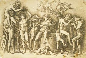Mantegna_Bacchanal_with_a_Wine-Vat_engraving_1480