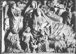 Nicola_Pisano_Pisa_pulpit_Nativity