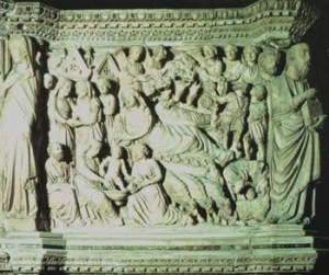 Nicola_Pisano_Siena_pulpit_Nativity