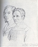 Peter_Cornelius_Friederich_Overbeck_Double_Friendship_Portrait_drawing_1812