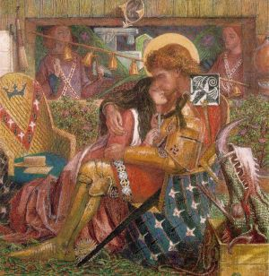 Rossetti The Wedding of St George and Princess_Sabra_1857