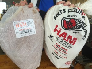Country hams for Christmas