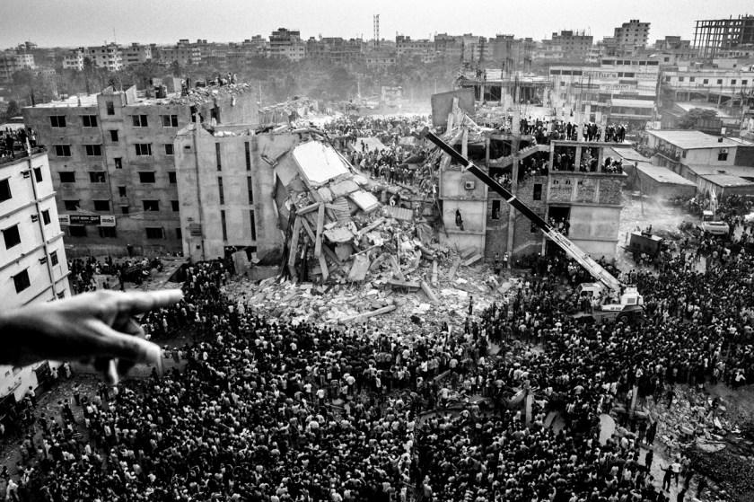 Collapse  of Rana Plaza. Photo: Rahul Talukder