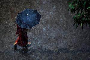 A walk in the rain. Photo: Shovon Mahbub