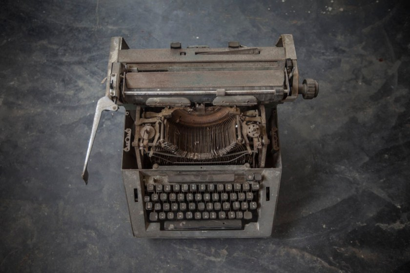 Abandoned typewriter in the room where Kalpana and her comrades used to meet. Photo: Shahidul Alam/Drik/Majority World