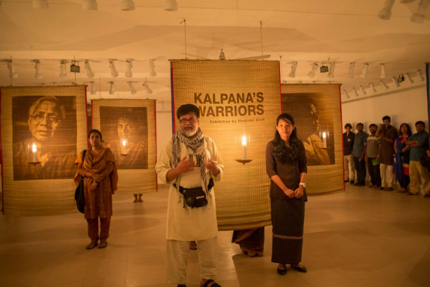 Kalpana's Warriors exhibition opening at Drik Gallery