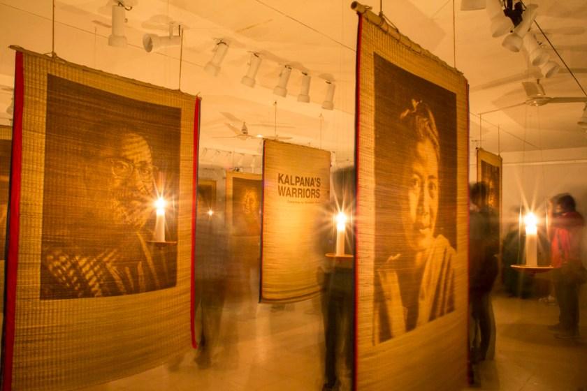 "Opening of ""Kalpana's Warriors"" at Drik Gallery II. Photo by Habibul@Drik"