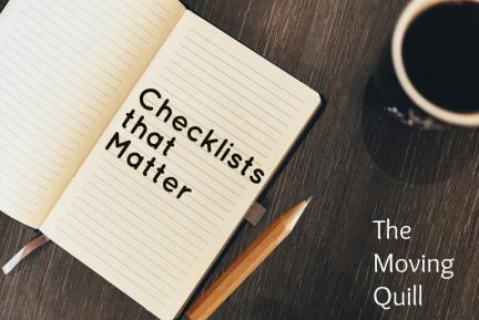 Checklists that matter
