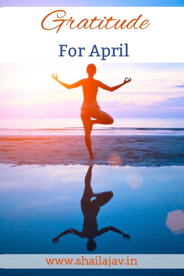 Gratitude for April- Checks and Balances