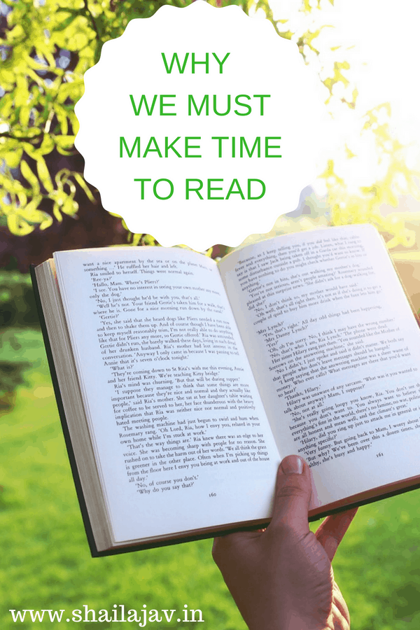 Why we must make time to read