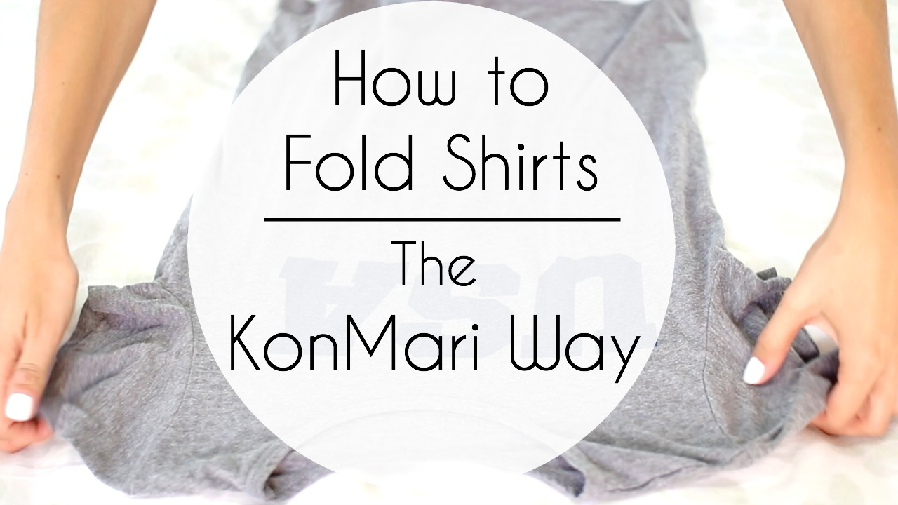 How to Fold Shirts & Tank Tops | The KonMari Way