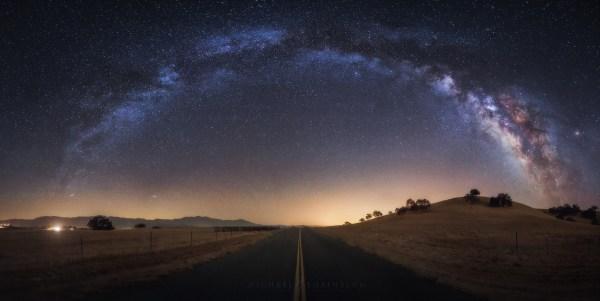 California Milky Night Sky