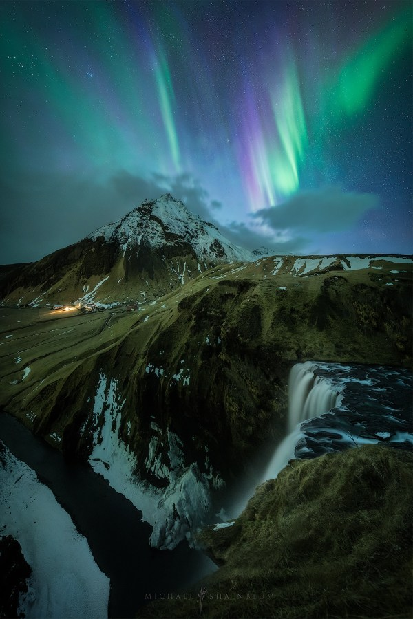 Iceland Northern Lights Landscape
