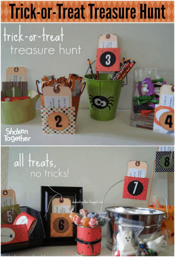 Trick Or Treat Treasure Hunt Halloween Scavenger Hunt