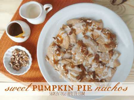 Sweet Pumpkin Pie Nachos {Shaken Together Life}