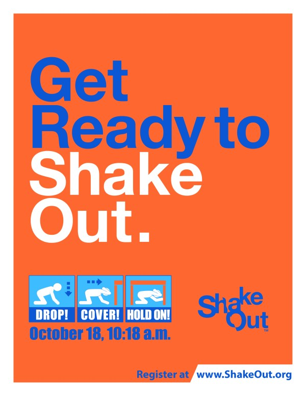 2018 Great ShakeOut Earthquake Drill Flyer