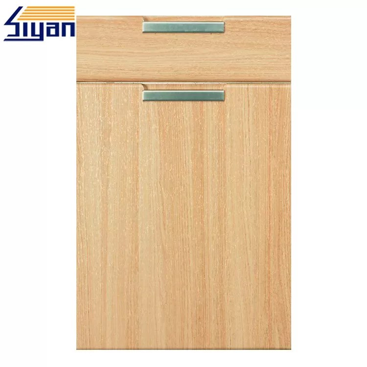 mdf kitchen cabinet doors wholesale cabinets flat wood grain with 450 678mm size oem service