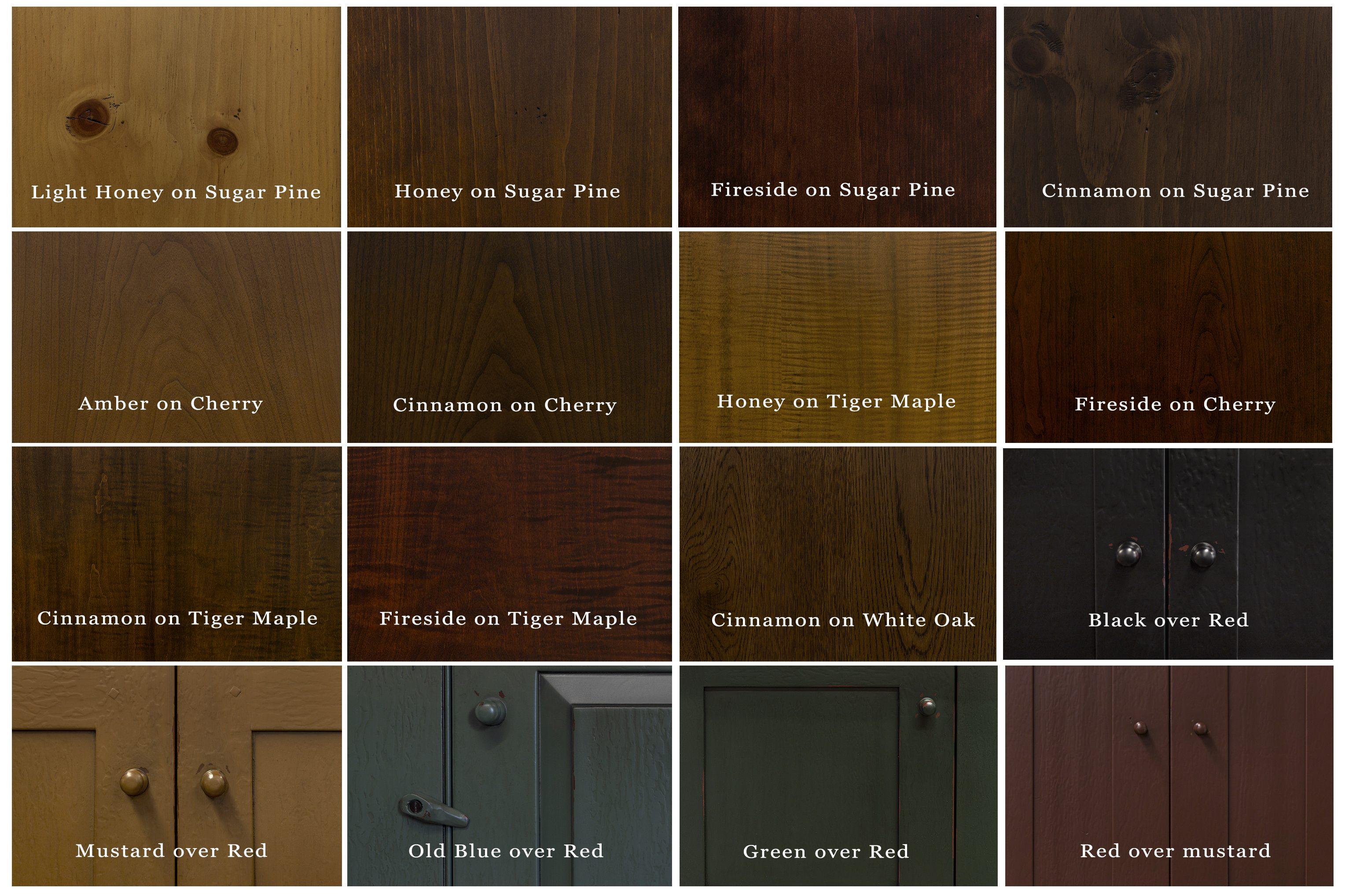 Wood  Finish Options  Shaker Shoppe