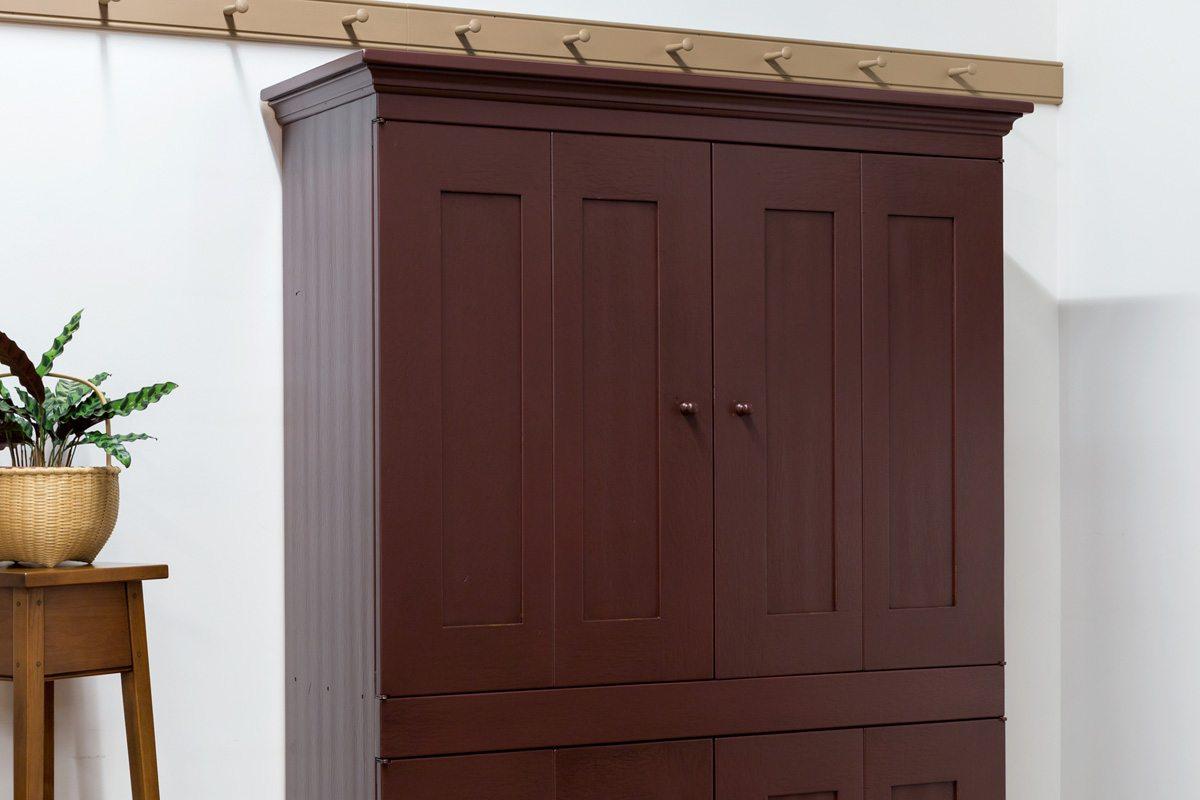 bi fold kitchen cabinet doors pictures of laminate countertops four door tv shaker shoppe