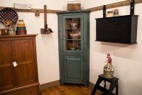 Small Corner Cabinet with Glass Door