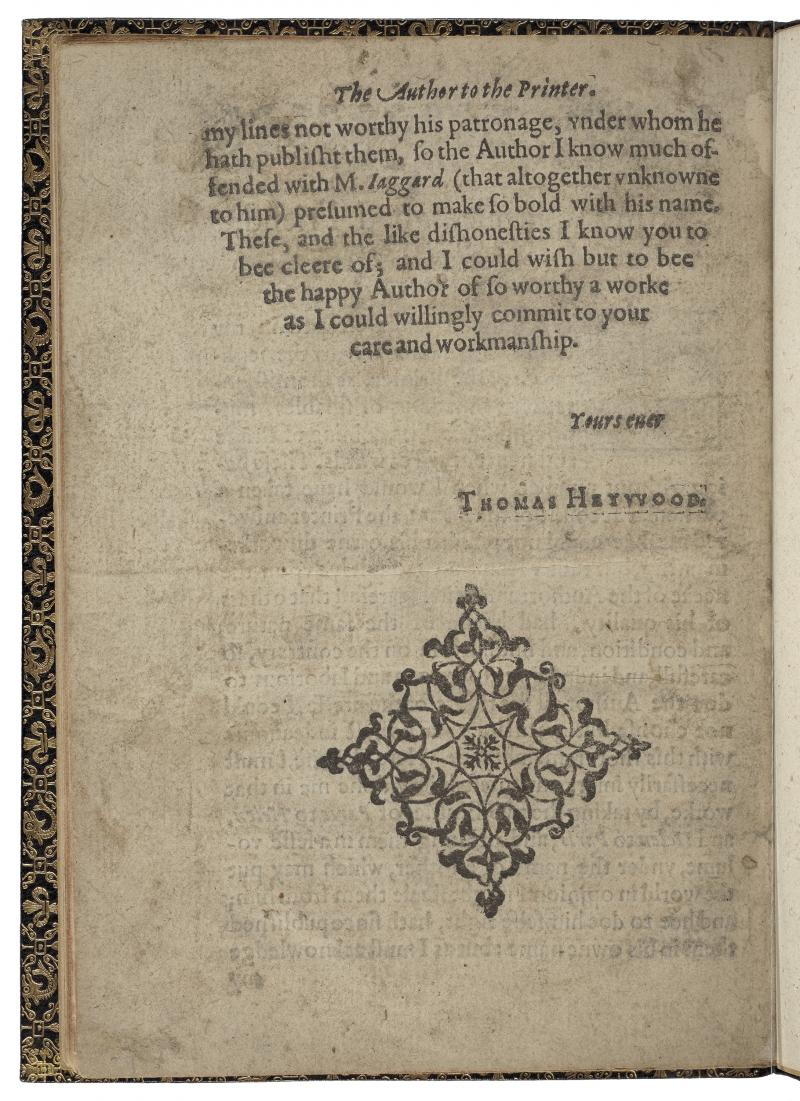 Image result for thomas heywood an apology for actors 1612