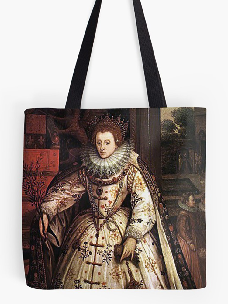 Elizabeth I Fan Portrait Tote Bag
