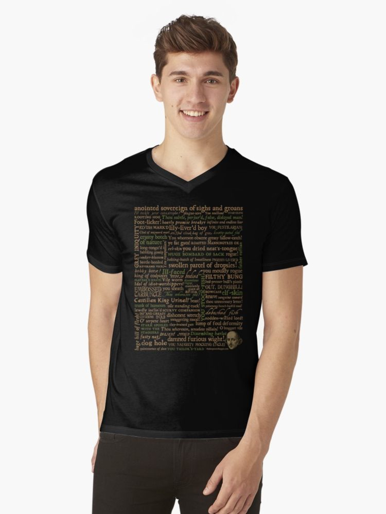 Shakespeare Insults Revised Edition Mens V-Neck T-Shirt