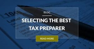 Selecting The Best Tax Preparer