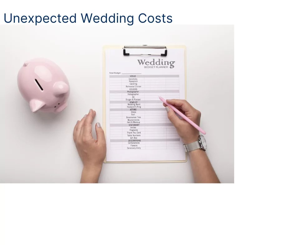 Unexpected Wedding Costs